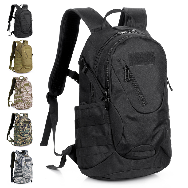 Fashionable casual small waterproof laptop shoulder bag travel camping sports bag mountaineering bag 20l tactical gear item(China (Mainland))