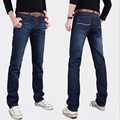 Hot Men's fashion wild solid color black straight jeans pants waist jeans men factory outlets