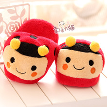 Free shipping cute cartoon free size rabbit/bees quality household plush children baby warm slippers 1 pair a lot(China (Mainland))