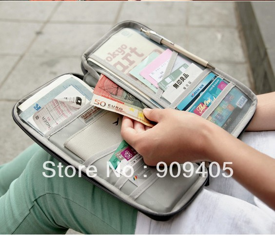 DHL Free shipping,Paper bag zero wallet multi-purpose hand bag passport bag id wallet 6 colors 200pcs/lot<br><br>Aliexpress