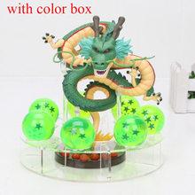 15cm dragão bola z figuras de ação shenron dragonball z figuras definir esferas del dragão + 7 pçs 3.5cm bolas + prateleira figurinhas dbz(China)