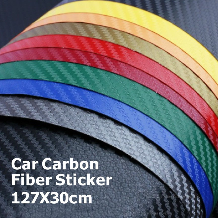 127*30CM 3D Carbon Fiber Vinyl Car Wrapping Foil Decoration Sticker Many Color Option Freeshipping - X-Car LED&AUTO Supplies store