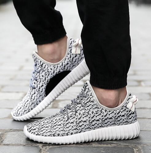 2016 новый мужчины и женщины свободного покроя обувь мода дышащей обуви серый черный ...
