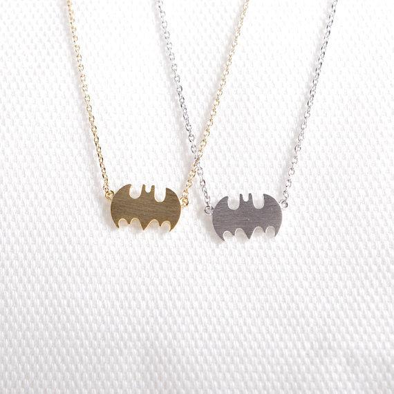 maxi necklace Summer fashion jewelry chain silver gold batman necklace superman batman statement necklace 2015(China (Mainland))