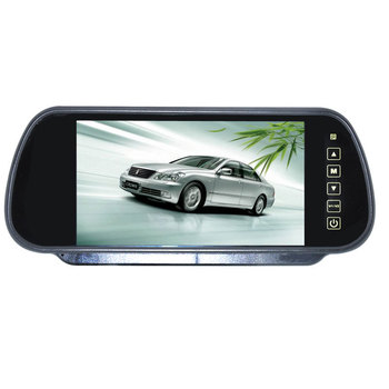 Free shipping Wholesale 7 inch Color TFT LCD Car Rearview Monitor Car Rearview Mirror Factory Selling 2