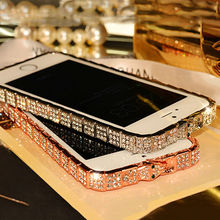 Buy 2017 ON SALE Luxury Bling Snake Diamond Inlay Metal Rhinestone Bumper fashional phone Case iPhone 5 6 6s Plus Crystal Frame for $6.42 in AliExpress store