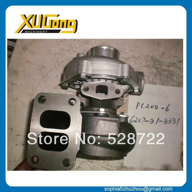 komatsu replacement parts PC200 6 6D95 6207 81 8331 engine turbo