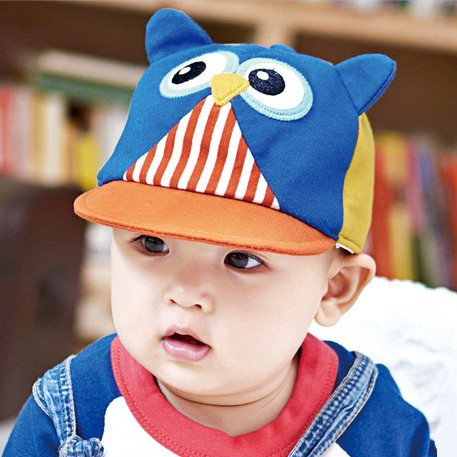 2015 Direct Selling New Cotton Baby Cap The Spring And Autumn Winter Baseball Cap Baby Owl Hat Photo For Peaked Style(China (Mainland))
