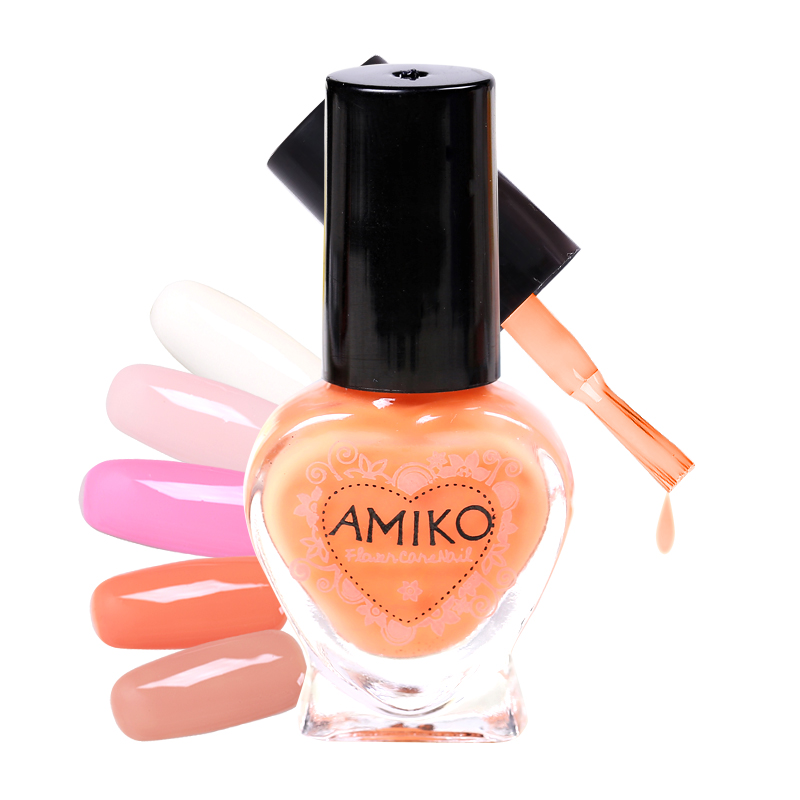nail polish Amiko amy blossoming of maximo oliveros eco-friendly nail polish oil 6ml sweet cream 10 makeup(China (Mainland))