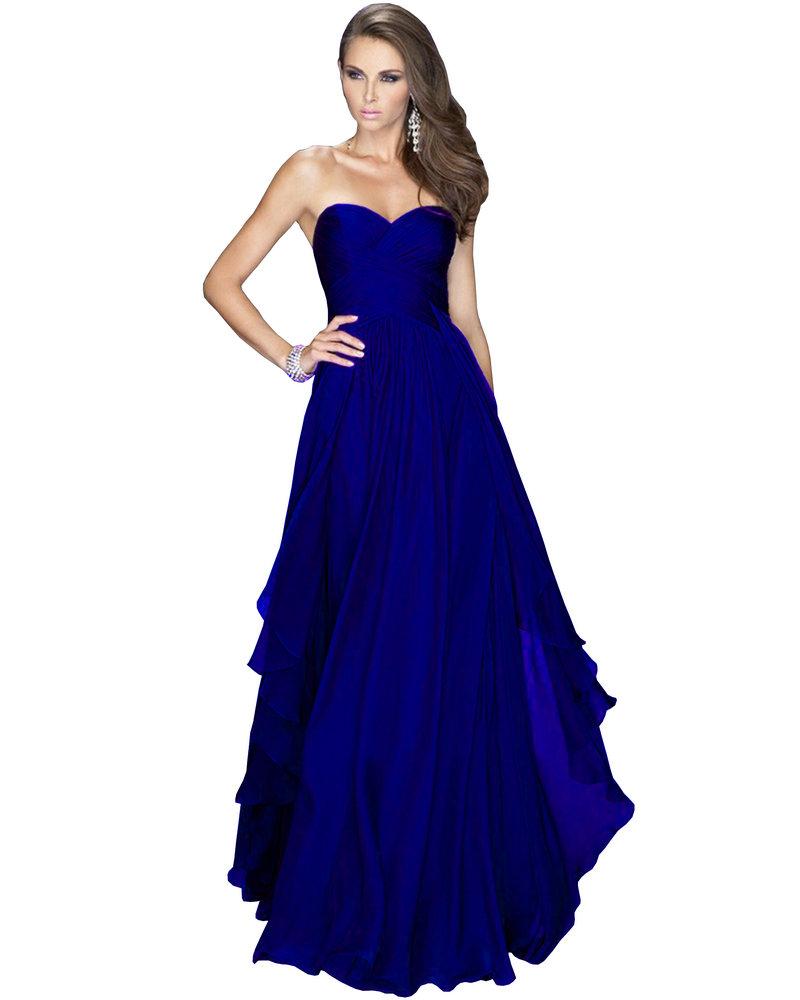 Chiffon Blue Dress