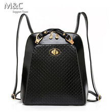 2016 Hot Sale Women's Backpack Fashion Shell Backpack Crocodile Leather Shoulder Bag Designers Famous Brand School Bags BD-029(China (Mainland))