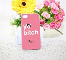 Pink Breaking Bad Funny White Hard phone Case Cover iPhone 4 4s 5 5s 5c 6 6s plus - Good Price Store store