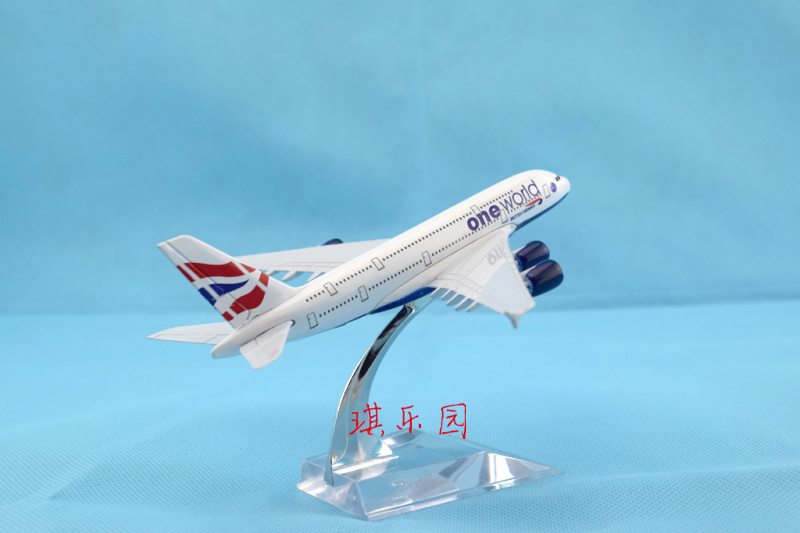 2014 Static model alloy aircraft model British Airways Airbus A380 14cm plane model airplane gift free shipping(China (Mainland))