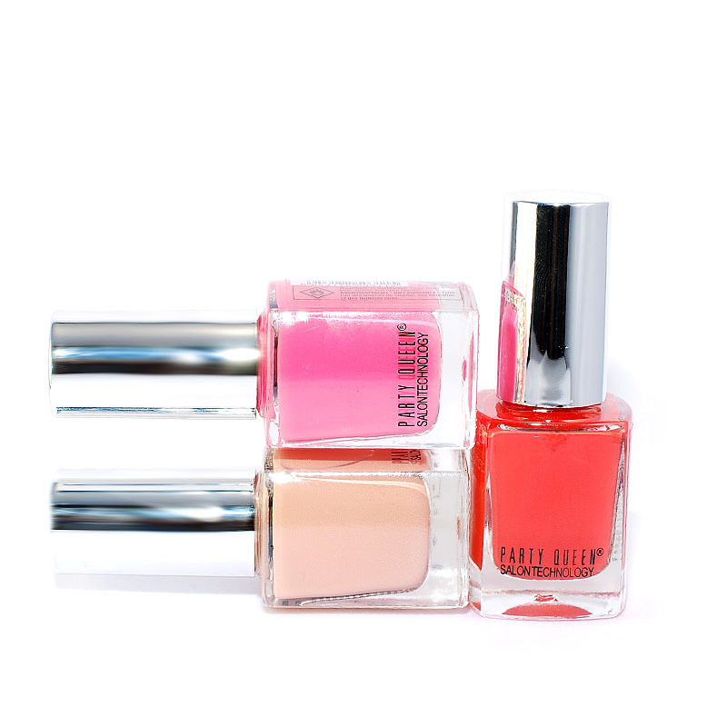Free shipping Party Queen SALON NAIL POLISH gel/enamel matte/base oil/glitter/neon/lacquer 25color 25pcs/lot wholesale brand(China (Mainland))