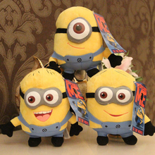2016 3pcs/lot Supernova Sale Minions 18CM 3D Despicable ME 2 Dolls & Stuffed Toys Plush Toy Minion Christmas Gift(China (Mainland))
