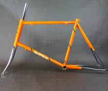 Gipsy 451 Renault 520 Small Wheel Bike Frame Fork Set Retro Steel Frame Orange Color(China (Mainland))