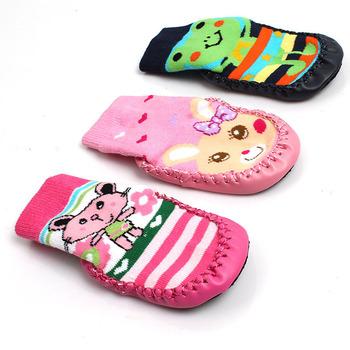Новый детская комната носки сгущать петлей сваи детские носки кожаная подошва дозирования ...