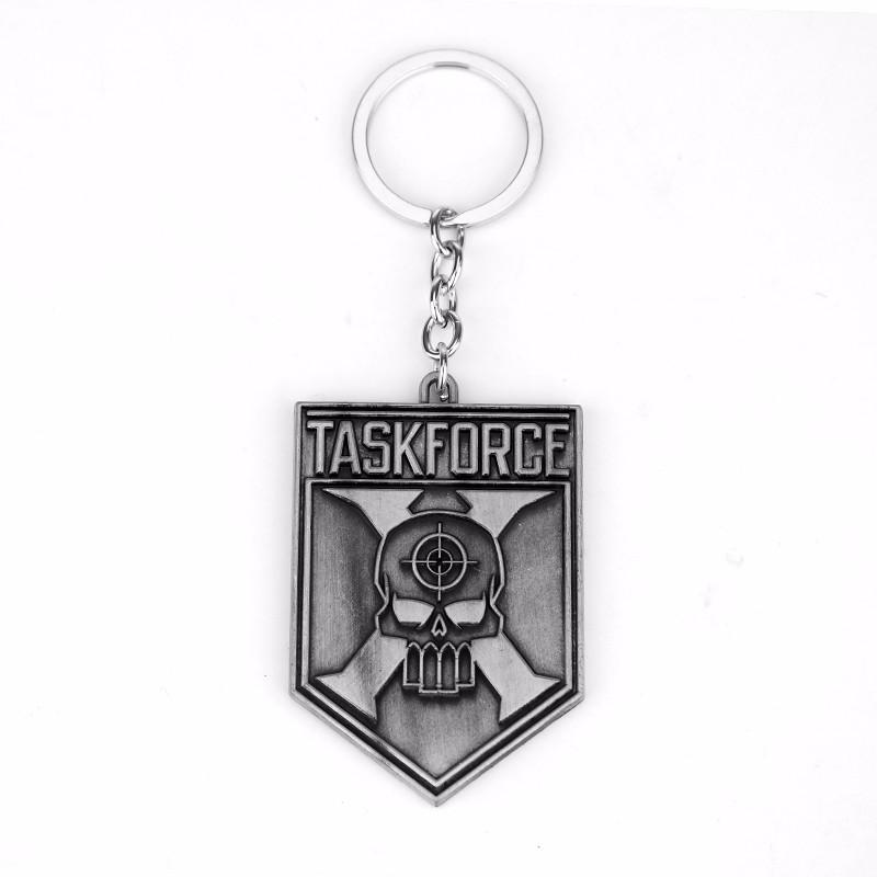 DC Marvel Suicide Squad The Joker Classic Logo Keychain Puddin Freaky Task Force Letter Keychain Movie Key Holder Souvenir