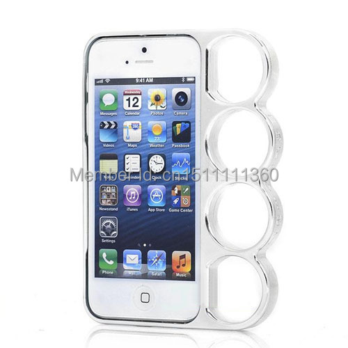 High Quality Fashion Lord Rings Knuckles Finger Phone Frame Case Cover For iPhone Apple 4 4s(China (Mainland))