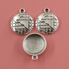 10 pcs Earth Charms Fashion Pendants Bracelet Necklace Accessories Jewelry Making Handmade,Tibetan Silver Plated 24*20 mm