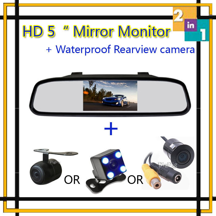 Hot !! HD 5 Inch 800*480 LCD TFT Screen Mirror Monitor Display With Car Reaview Camera Night Vision Parking Assist Free Shipping<br><br>Aliexpress
