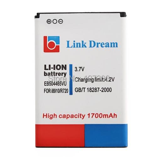 Гаджет  New Arrival High Quality 1700mAh Mobile Phone Replacement Battery for Samsung i8910, model: EB504465VU None Бытовая электроника