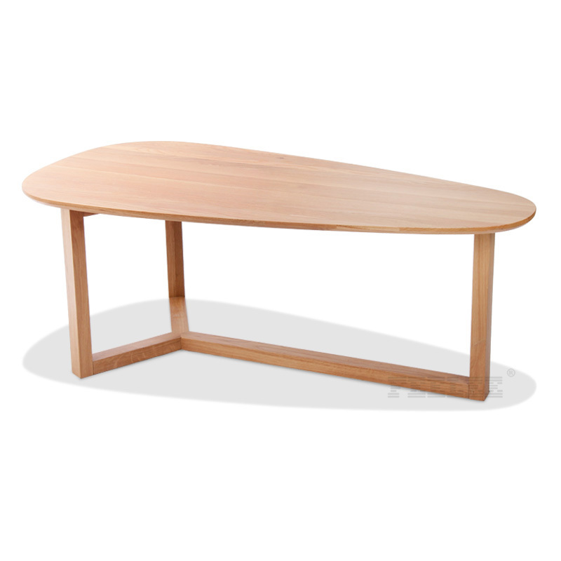 Ash Wood Coffee Table Round Small Table A Few Modern Minimalist Edge Fashion Coffee Table