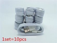 10pcs/lot New IOS 9.0 usb cable For iPhone 6 6 plus iPhone 5 5S 5C iPad4 mini etc 8 Pin USB Cable Cord Charger 1M Free Shipping(China (Mainland))