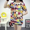 Harajuku 2016 Summer Women t shirt American cartoon zoo family Character Printed T shirts O neck