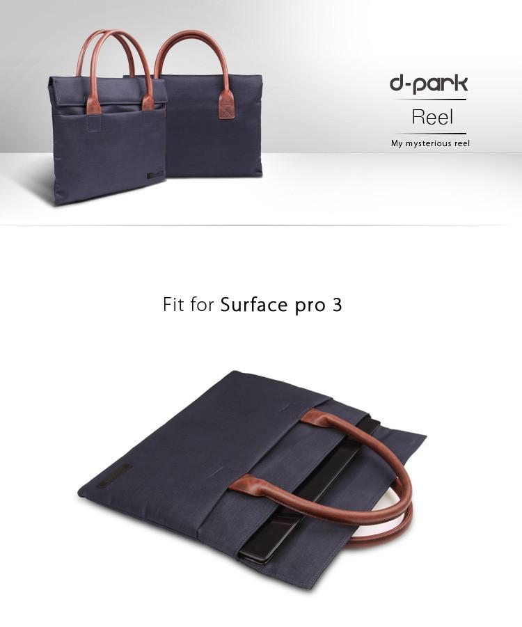 ถูก D-สวนใหม่กระเป๋าถือฟอร์ดและผ้าหนังแท้แล็ปท็อปกรณีกระเป๋า สำหรับA Pple M Acbook 12นิ้ว,แขนกระเป๋ากระเป๋าสำหรับแล็ปท็อป12นิ้ว