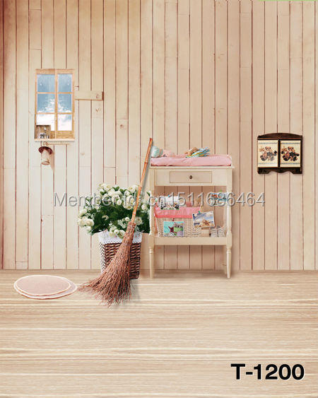 hot sale free shipping 5x7ft Photography Backdrops Photo Studio Computer Painted baby mini background wood wall T-1200(China (Mainland))