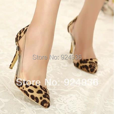 Free Shipping New 2015 Women's Pumps Leopard Grain Shoes Fashion Basic Women Pumps Sandals High Heels Shoes Lady Pointed Toe(China (Mainland))