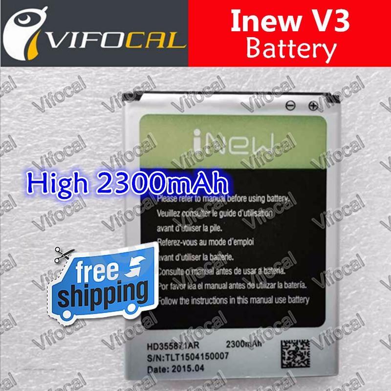 Inew V3 battery 2300mAh High Capacity 100 Original New Battery For inew v3 plus V3C Mobile