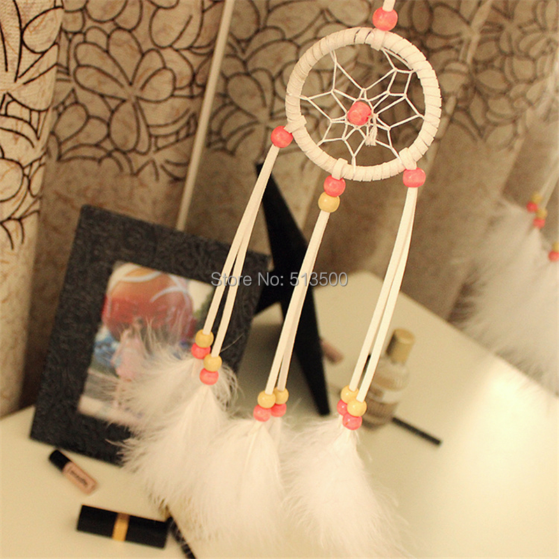 7cm Diameter Handmade Dream Catcher Feather Decor Indian Style(China (Mainland))
