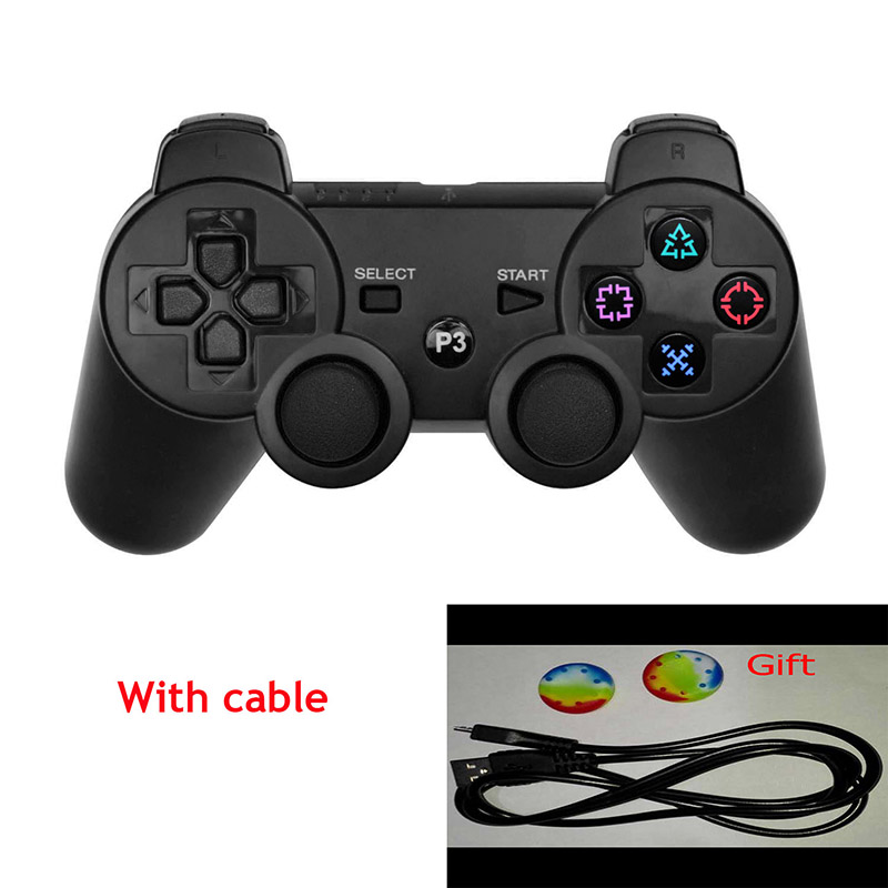 Black For SONY PS3 Controller Wireless Bluetooth Joysticks for DUALSHOCK 3 SIXAXIS for PlayStation 3 Game Controller+Cable(China (Mainland))
