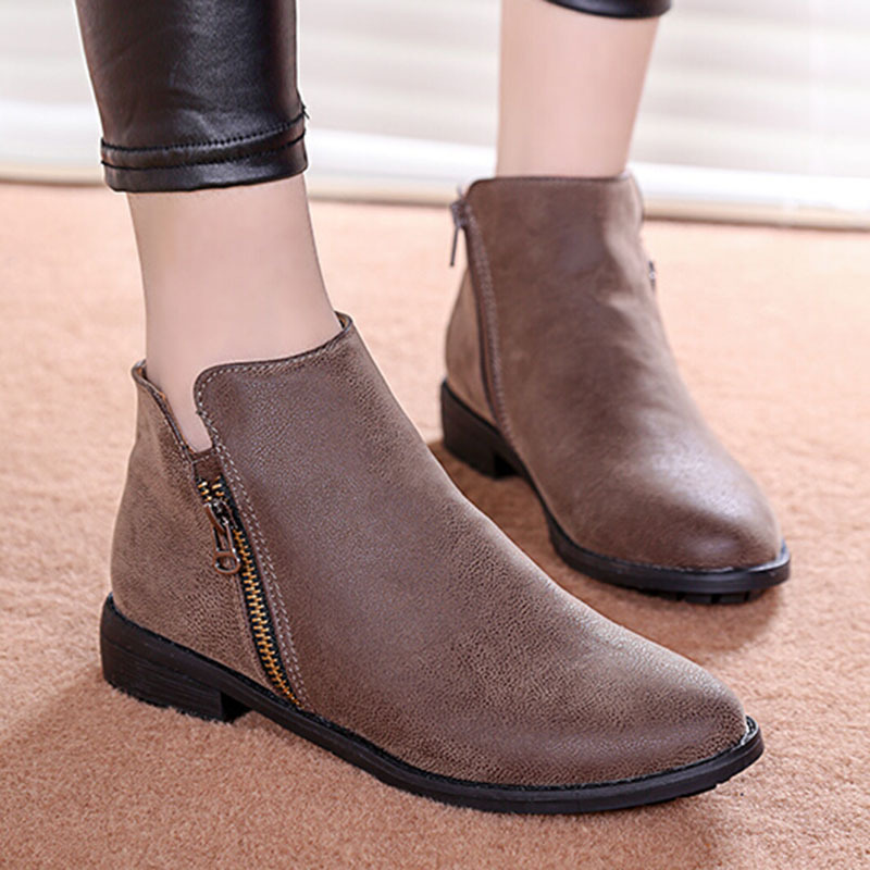 Ankle Boots Flat Heel - Cr Boot