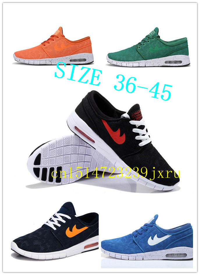 2015s New fashion SB Stefan Janoski MAX running shoes for Men and women Sport Athletic Shoes 12 Colors Sneakers Eur size 36-45(China (Mainland))
