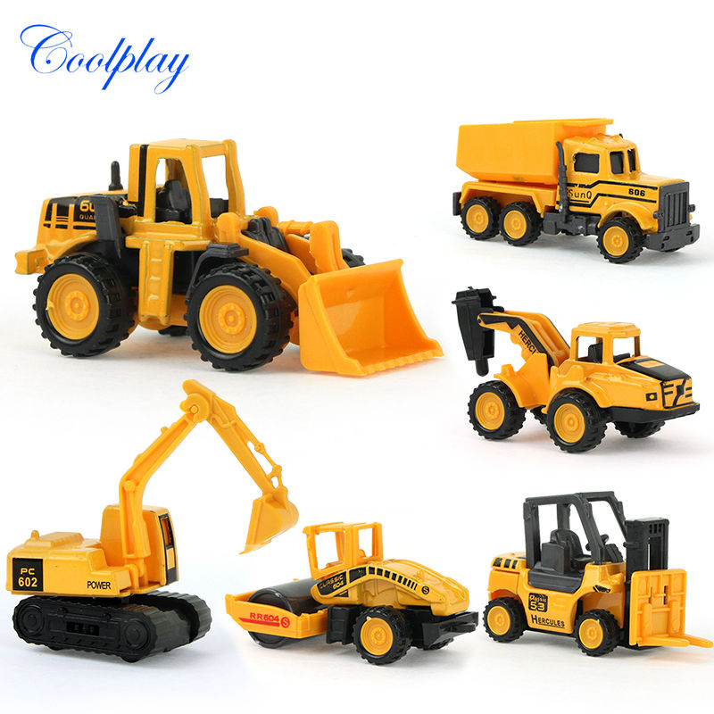 8 types Diecast mini car alloy construction vehicle Engineering Car Dump Truck Artificial Model Toys For boy kids(China (Mainland))