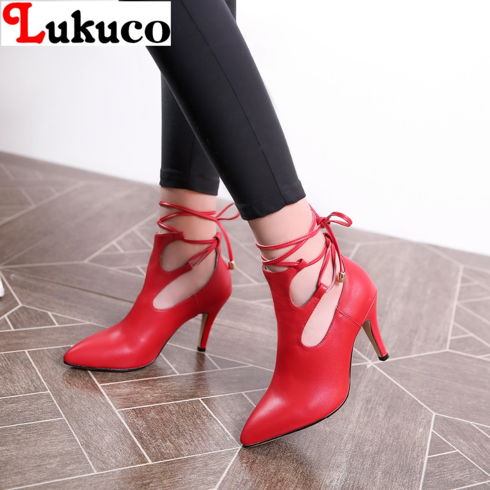 Фотография 2016 cut-outs design WOMEN PUMPS EUR size 41 42 43 44  SEXY STYLE lady shoes high quality genuine leather shoes free shipping
