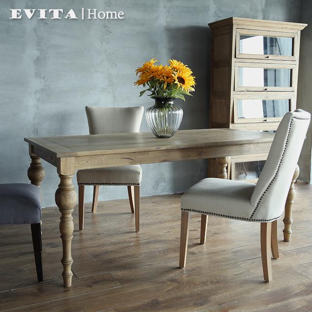 Continentale multifunctionele houten eettafel eettafel woonkamer rechthoekige tafel en stoelen - Tafel en witte stoelen ...