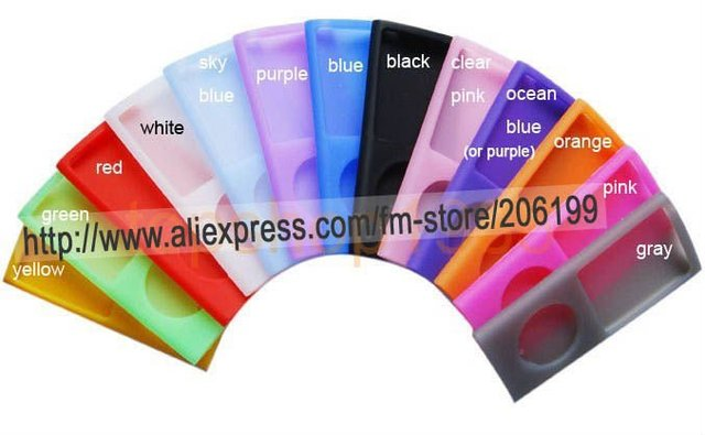 Wholesale and retail 10 PCS/LOT NEW Silicone Skin Cover Case For iPod Nano 4th 4 Gen 4G in13 color