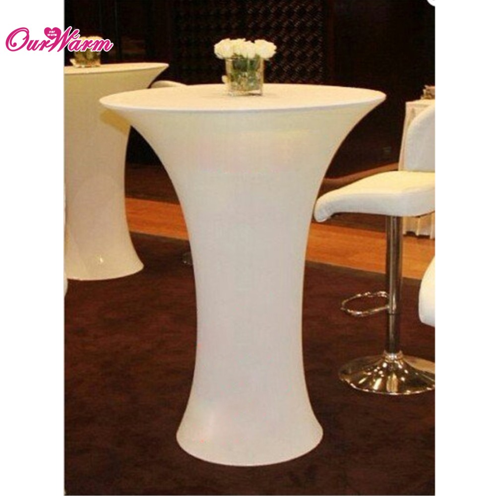 Tablecloth Ivory Cocktail Table Cover Lycra Spandex Stretch Tablecloth for Bar Bistro Wedding Decoration Round Home Textile(China (Mainland))
