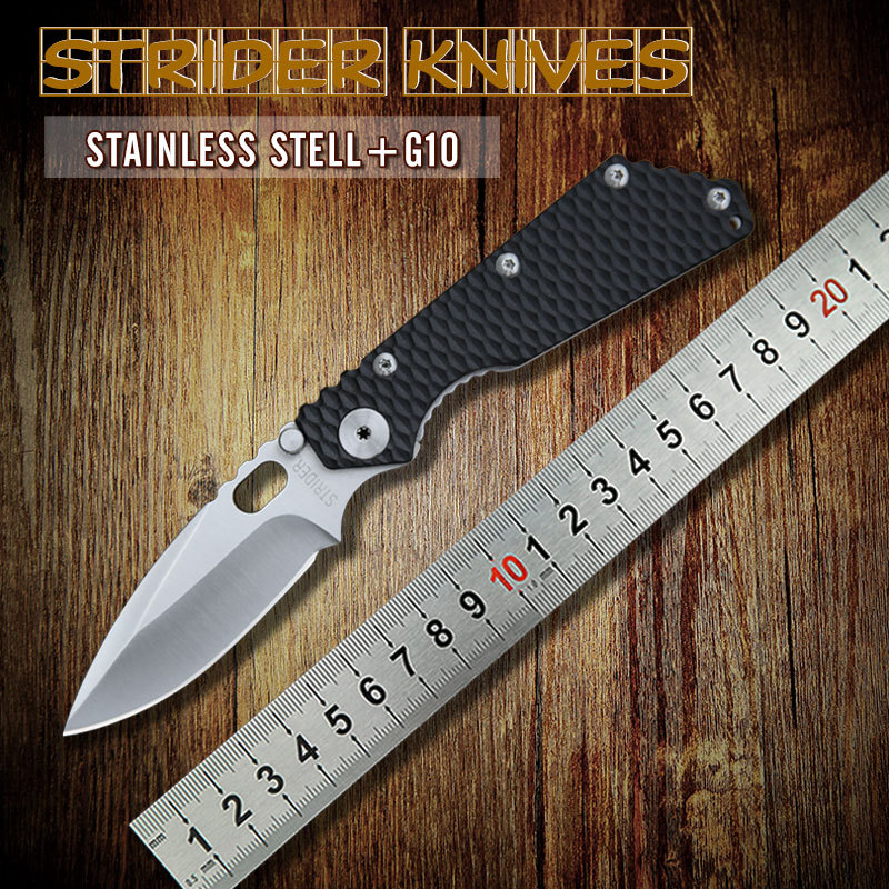2015 New Tactical Survival Folding Knife Strider Custom SMF with G10 Handle MSC Stainless Steel Blade Best quality Free Shipping(China (Mainland))