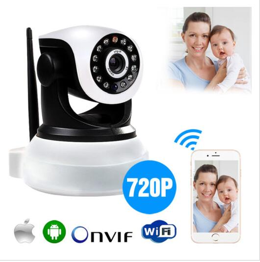 Buy P2P Pan Tilt IP Camera Wireless Security HD 720P ONVIF Audio Network Infrared IP Cam Night Vision WiFi Webcam Support 64G(China (Mainland))