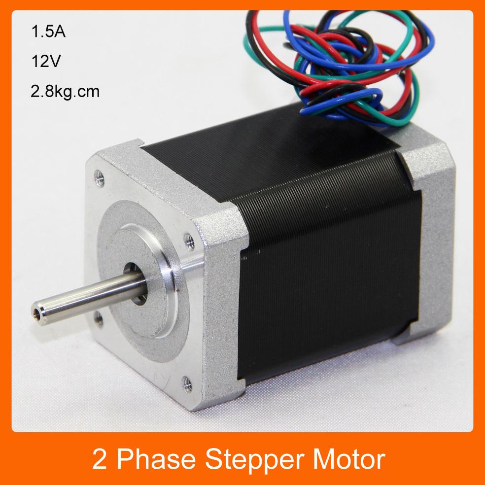 2 Phase 4 Leads 1 8deg 1 5a 12v Stepper Motor