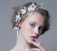 New Fashion Rhinestone Flower Frontlet Bridal Tiara Princess Headbands Wedding Silver crown Hair Accessories Wholesale