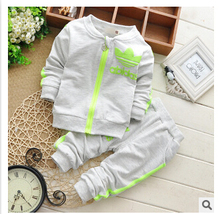 HOT sale 2pcs/set brand baby boys and baby girls clothing set fashion boys and girls clothing fashion Kids Clothes(China (Mainland))