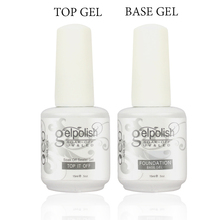 1lot/2pcs15ml base coat + top gel nail gel polish for nail art soak-off gel nail polish,UV nail gel polish