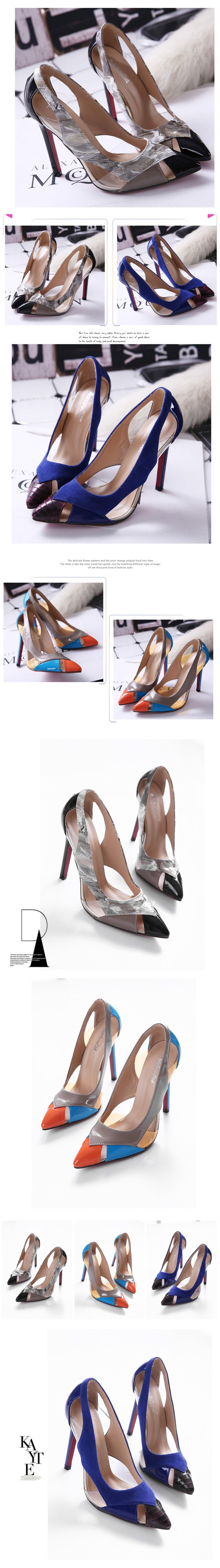 2016 New Spring Fall Pointed Toe Red Bottom Wedding Pumps For Women Thin High Heels Shoes Black Women High-heeled Shoes ZK3.5
