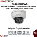 Hikvision Original English Version DS 2CD2142FWD I 4MP WDR Fixed Dome IP Camera IP67 1K10 POE